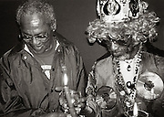 Lee Perry  and Ernest Ranglin at Palm Pictures 1997