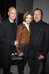 Left to right, The HON.JUSTIN PORTMAN, NATALIA VODIANOVA and photographer PAOLO ROVERSI at the opening party for 'Face of Fashion' an exhibition of photographs by five of the World's leading fashion photographers held at the National Portrait Gallery, St.Martin's Lane, London on 12th February 2007.<br />
