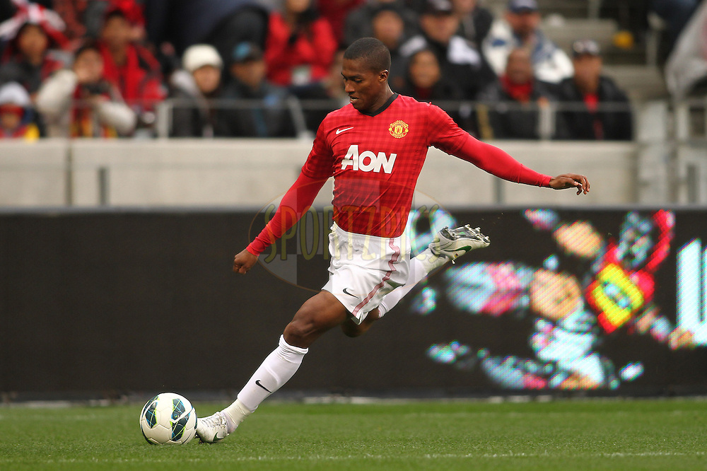 Antonio Valencia of Manchester United on the attack during the Football Invitational 2012 match between Ajax Cape Town and Manchester United held at Cape Town Stadium on 21 July 2012 in Cape Town, South Africa..Photo by Shaun Roy / Sportzpics