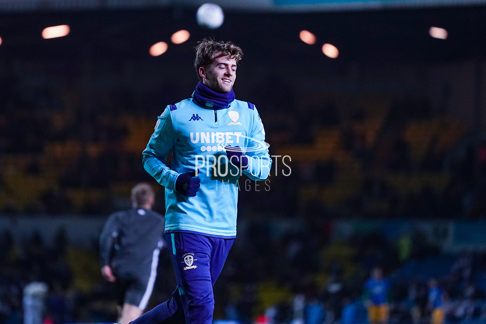 Leeds United forward Patrick Bamford (9) warming up during the EFL Sky Bet Championship match between Leeds United and Preston North End at Elland Road, Leeds, England on 26 December 2019.