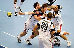 14.01.2011, FFS Arena, Lund, SWE, IHF Handball Weltmeisterschaft 2011, Herren, Deutschland (GER) vs Aegypten (EGY) im Bild, // Uwe Gensheimer // during the IHF 2011 World Men's Handball Championship match Germany (GER) vs Egypt (EGY) at FFS Arena in Lund. . EXPA Pictures © 2011, PhotoCredit: EXPA/ nph/  Bildbyrån   76200       ****** out of GER / SWE / CRO ******