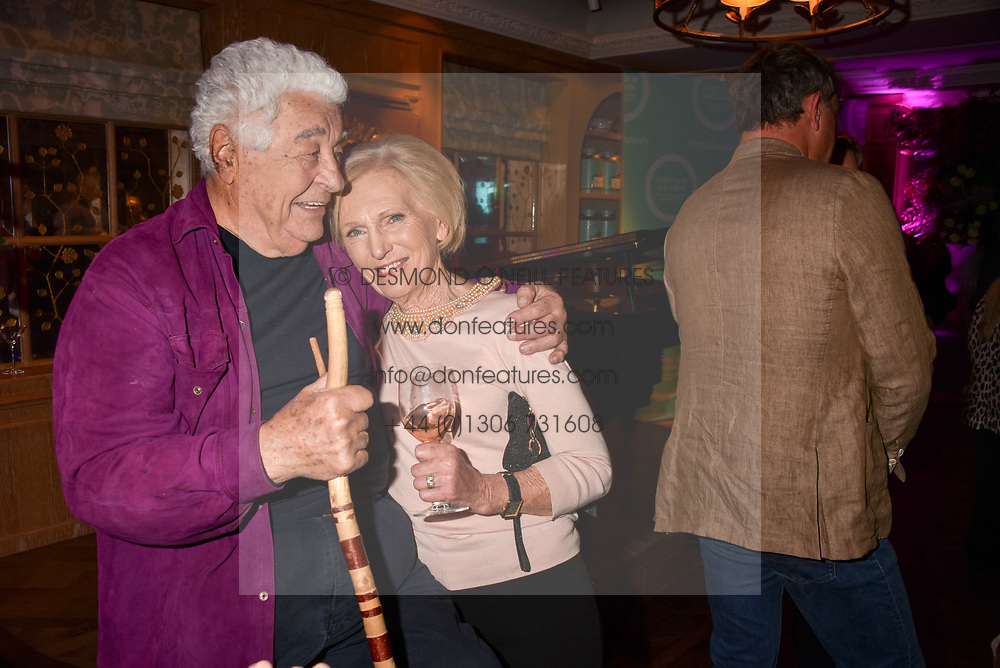 Antonio Carluccio and Mary Berry at the 2017 Fortnum &amp; Mason Food &amp; Drink Awards held at Fortnum &amp; Mason, Piccadilly London England. 11 May 2017.<br /> Photo by Dominic O'Neill/SilverHub 0203 174 1069 sales@silverhubmedia.com