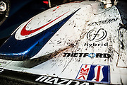 Race debris and runner on the Dyson racing machine Petit Le Mans. Oct 18-20, 2012. © Jamey Price