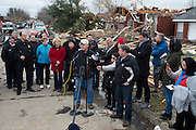 Garland Mayor Doug Athas speaks during a press conference in the neighborhood where homes were hit by a tornado two days earlier in Garland, Texas on December 28, 2015. (Cooper Neill for The New York Times)