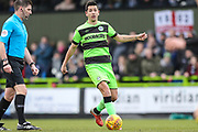 Forest Green Rovers Lloyd James(4) on the ball during the EFL Sky Bet League 2 match between Forest Green Rovers and Notts County at the New Lawn, Forest Green, United Kingdom on 9 February 2019.