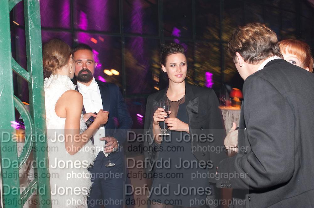 NATALIA VODIANOVA; EVGENY LEBEDEV; LILY ROBINSON, Evgeny Lebedev and Graydon Carter hosted the Raisa Gorbachev charity Foundation Gala, Stud House, Hampton Court, London. 22 September 2011. <br /> <br />  , -DO NOT ARCHIVE-© Copyright Photograph by Dafydd Jones. 248 Clapham Rd. London SW9 0PZ. Tel 0207 820 0771. www.dafjones.com.