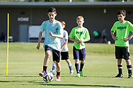 July 13, 2018: OKC Energy FC hosts a youth soccer camp at the Oklahoma City County Health Department fields in Oklahoma City, Oklahoma.
