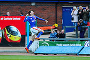 Carlisle United Forward Alex Gilled celebrates Carlisles Goal during the Sky Bet League 2 match between Carlisle United and Exeter City at Brunton Park, Carlisle, England on 17 October 2015. Photo by Craig McAllister.