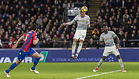 Football - 2017 / 2018 Premier League - Crystal Palace vs. Manchester United<br /> <br /> Chris Smalling (Manchester United) beats the offside trap and heads home from distance to make the score 2-1 at Selhurst Park.<br /> <br /> COLORSPORT/DANIEL BEARHAM