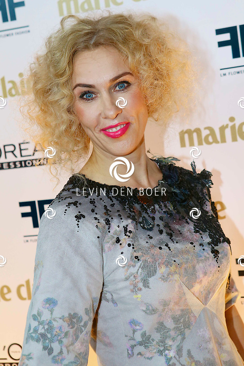 AMSTERDAM - In het Carré theater tijdens de zevende editie van dit internationaal fashion event worden prijzen uitgereikt aan ontwerpers en modellen. Marie Claire Prix de la Mode is de drijvende kracht achter deze productie. Met op de foto   Claudia Straatmans. FOTO LEVIN DEN BOER - PERSFOTO.NU