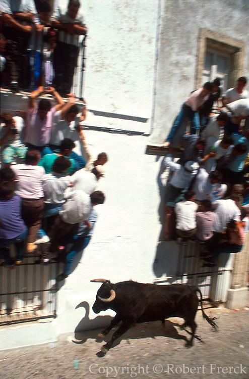SPAIN, ANDALUSIA, FESTIVALS 'Running of the Bulls' Semana Santa