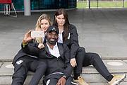 2018, September 12. Sportclub Only Friends, Amsterdam. Persdag team Only Friends in NYC. Op de foto: Anouk Hoogendijk, Ramon Beuk en Joelle Witschge