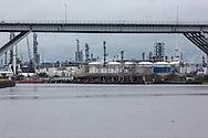 Industry along Houston's ship channel in East Texas.