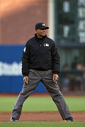 SAN FRANCISCO, CA - APRIL 18:  MLB umpire CB Bucknor #54 stands on the field during the first inning between the San Francisco Giants and the Arizona Diamondbacks at AT&T Park on April 18, 2015 in San Francisco, California.  The San Francisco Giants defeated the Arizona Diamondbacks 4-1. (Photo by Jason O. Watson/Getty Images) *** Local Caption *** CB Bucknor