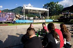 Party at MTB Downhill European Championships, on June 13, 2009, at Kranjska Gora, Slovenia. (Photo by Vid Ponikvar / Sportida)
