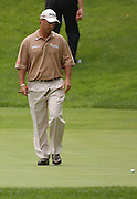 Jun 26, 2006; Gaylord MI; USA; Chris DiMarco eyes his missed birdie putt on the sixth hole during the ING Par-3 Shootout at Treetops Resort in Gaylord Michigan.