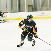 1st year forward Merissa Zerr (24) of the Regina Cougars in action during the preseason Cougars Alumni Game on September 30 at Co-Operators Centre. Credit: Arthur Ward/Arthur Images
