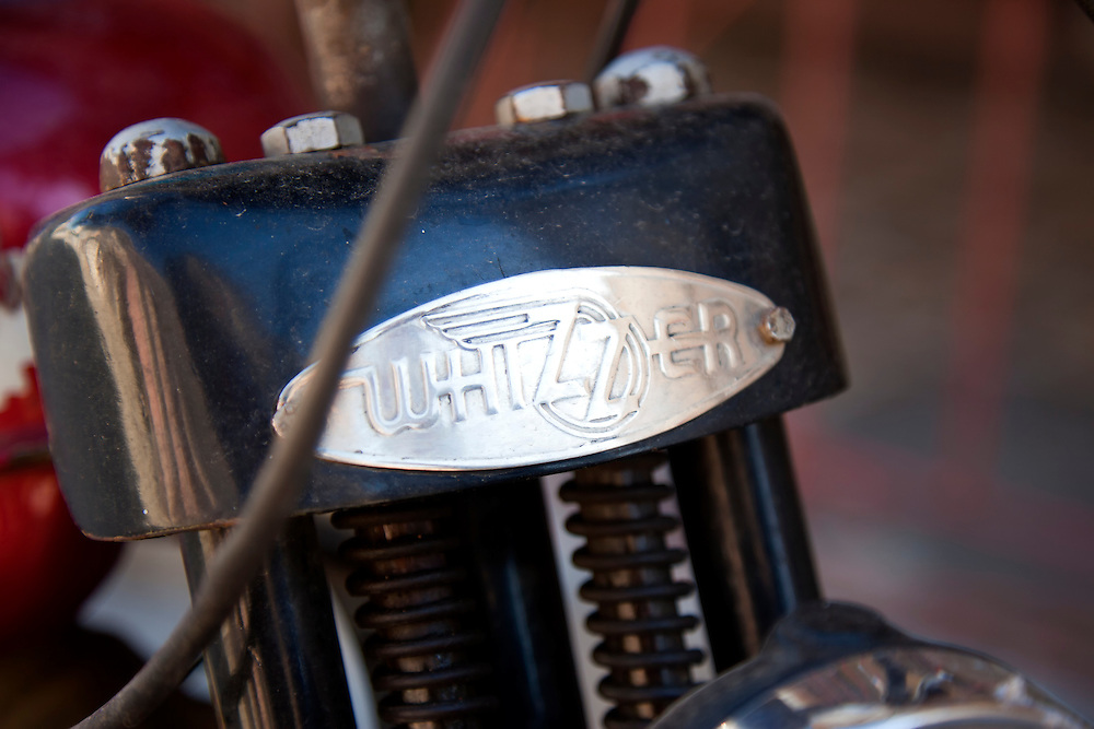 Whizzer motorcycle in Holguin, Cuba.