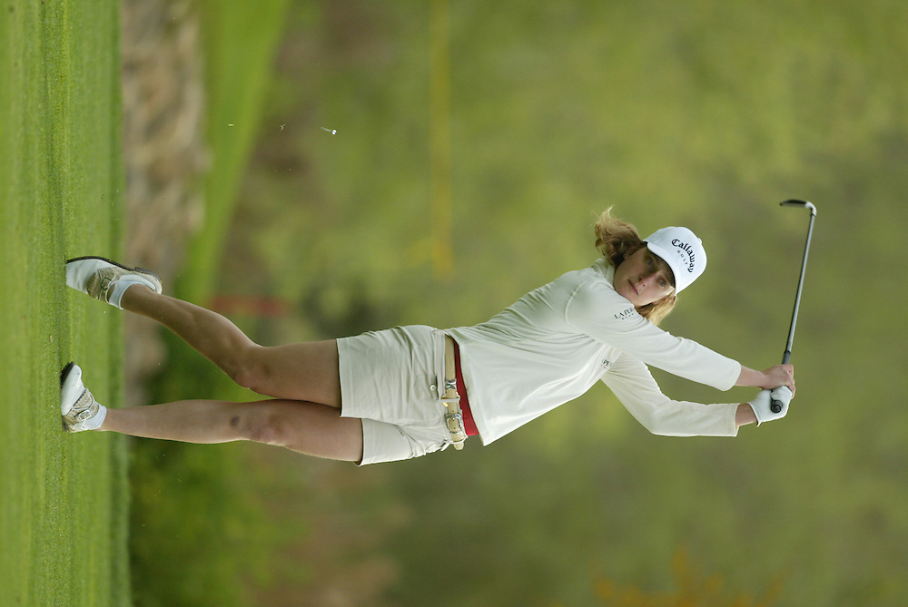 Giulia Sergas..LPGA Welch's Fry's Championship Round 3..Dell Urich GC at Randolph Park..Tucson, AZ..March 15, 2003..Photograph by Darren Carroll ..X67922, Take 2