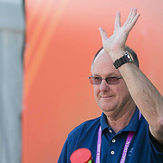 March 9, 2015, Indian Wells, California:<br /> Tournament Director Steve Simon is introduced during the WTA Draw Ceremony at the Indian Wells Tennis Garden in Indian Wells, California Monday, March 9, 2015.<br /> (Photo by Billie Weiss/BNP Paribas Open)
