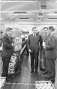 Industrial Yarns Bray..1963..23.08.1963..08.23.1963..23rd August 1963...Image shows some of the management at Industrial Yarns discussing business as an operator works on a loom .