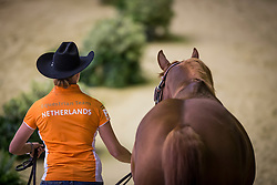 Fenna Elzinga, (NED), Smoking Kills - Horse Inspection Reining  - Alltech FEI World Equestrian Games™ 2014 - Normandy, France.<br /> © Hippo Foto Team - Dirk Caremans<br /> 25/06/14