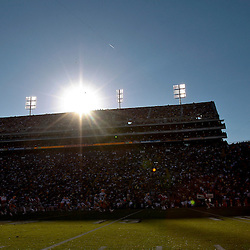 November 17, 2012; Baton Rouge, LA, USA  A general view of a game between the LSU Tigers and the Ole Miss Rebels as the sun sets at Tiger Stadium. LSU defeated Ole Miss 41-35. Mandatory Credit: Derick E. Hingle-US PRESSWIRE
