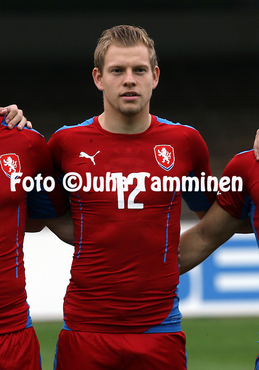 21.5.2014, Olympic Stadium, Helsinki, Finland.<br /> Friendly International match Finland v Czech Republic.<br /> Matej Vydra - Czech Rep.