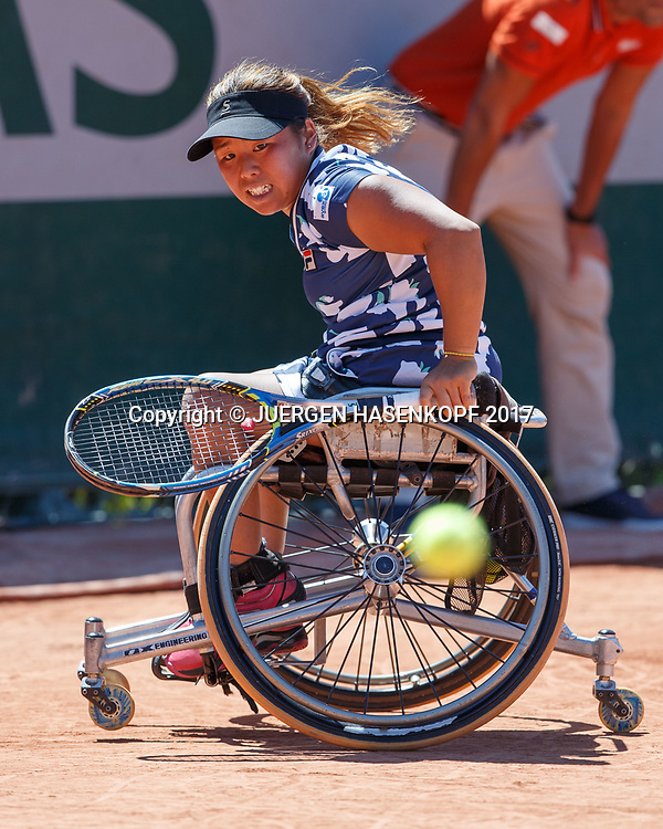Yui Kamiji (JPN), Womens Wheelchair Tennis Final<br /> <br /> Tennis - French Open 2017 - Grand Slam / ATP / WTA / ITF -  Roland Garros - Paris -  - France  - 10 June 2017.