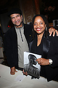 l to r: Khepra Burns and Dr. Deb Willis at the Weeksville Heritage Society Awards and book celebration for ' Posing Beauty ' sponsored by The Weeksville Heritage Society and held at The Jumeirah Essex House hotel on Novemeber 16, 2009