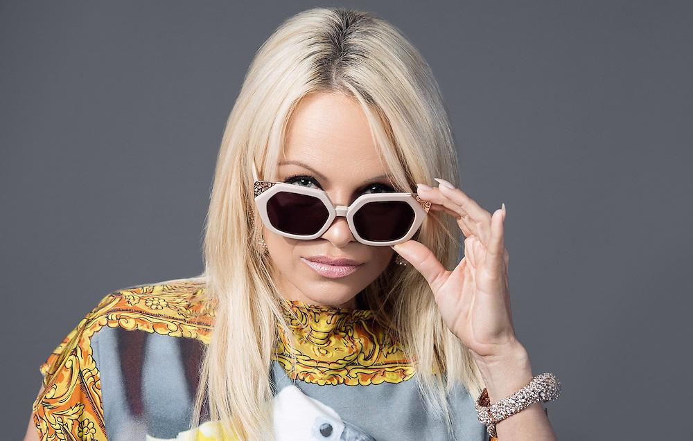 Pamela Anderson portrait by Ki Price on 23 September 2015, retouched.<br /> Photos Ki Price