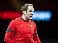 Alun Wyn Jones of Wales <br /> <br /> Photographer Simon King/Replay Images<br /> <br /> Six Nations Round 1 - Wales v Italy -  Captains Run - Friday 31st January 2020 - Principality Stadium - Cardiff<br /> <br /> World Copyright © Replay Images . All rights reserved. info@replayimages.co.uk - http://replayimages.co.uk
