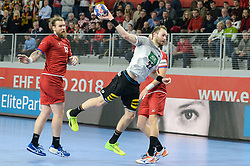 Steffen Fath of Germany during handball match between National teams of Germany and Czech Republic on Day 2 in Main Round of Men's EHF EURO 2018, on January 19, 2018 in Arena Varazdin, Varazdin, Croatia. Photo by Mario Horvat / Sportida