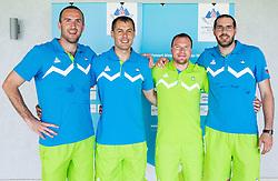 Jure Erzen,  Dario Krejic, Boris Jersin and Uros Troppan during presentation of Slovenian Team for Baku 2015 European Games,  on June 4, 2015 in Koper, Slovenia. Photo by Vid Ponikvar / Sportida