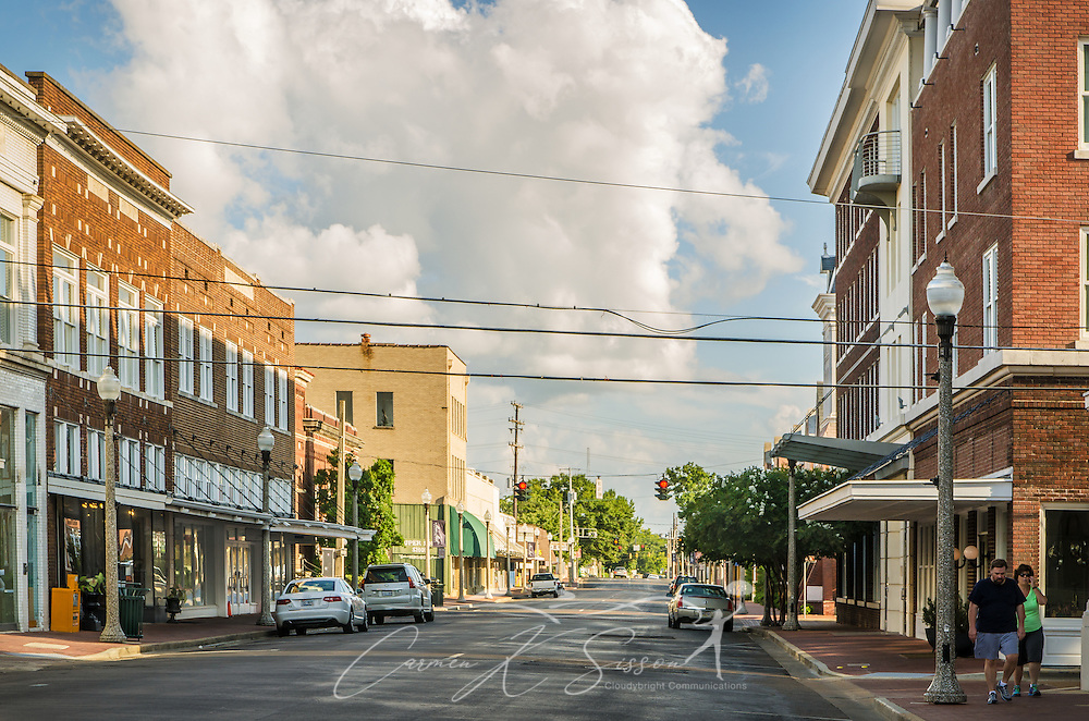Howard Street, in downtown Greenwood, Miss., is a popular shopping destination, with locally-owned stores like Turnrow Book Company and Mississippi Gift Company. (Photo by Carmen K. Sisson)
