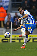 Inigo Calderon of Brighton and Hove Albion during the Sky Bet Championship play off semi final first leg at the American Express Community Stadium, Brighton and Hove<br /> Picture by David Horn/Focus Images Ltd +44 7545 970036<br /> 08/05/2014