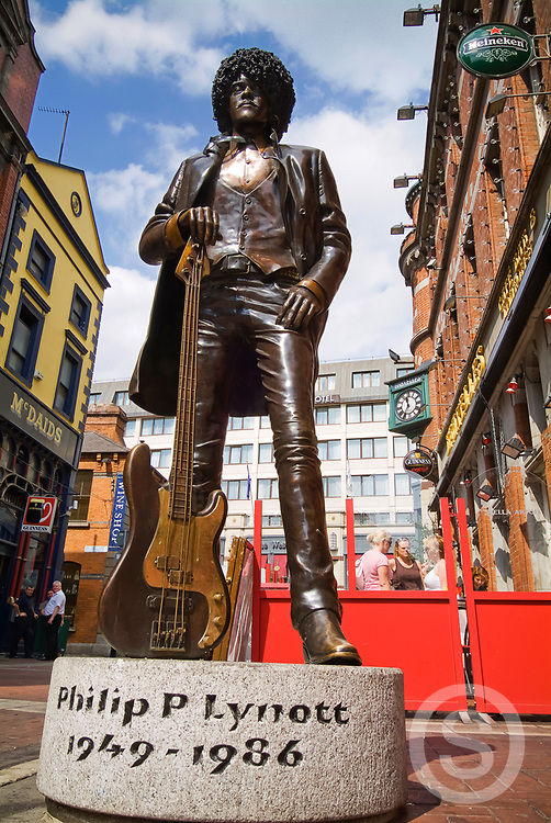 Photographer: Chris Hill, Phil Lynott Statue, Grafton Street, Dublin