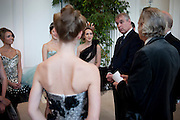 THE DUKE OF YORK WITH BALLET DANCERS. English National Ballet Summer party.  All proceeds from the Summer Party go towards English National Ballet. The Orangerie. Kensington Palace. London. 29 June 2011. <br /> <br />  , -DO NOT ARCHIVE-© Copyright Photograph by Dafydd Jones. 248 Clapham Rd. London SW9 0PZ. Tel 0207 820 0771. www.dafjones.com.