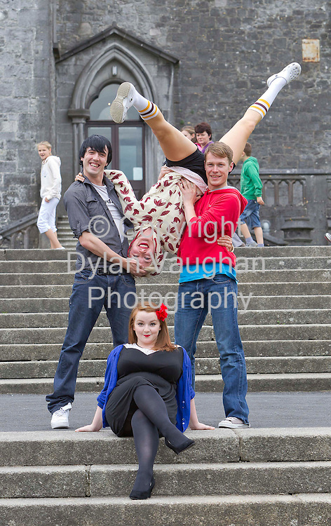 5/8/2010.free picture no charge for use.Comedy Dance Theatre performers Ponydance from Belfast pictured at Kilkenny Castle yesterday as part of the Kilkenny Arts Festival which opens today (friday)..Pictured are Duane Watters, Leonie McDonagh, Ryan O'Neill and Paula O'Reilly..Photograph Dylan Vaughan.