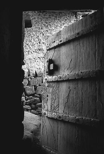 Door Ajar - old wooden door of abandoned house in Salalah Dhofar Oman & Door Ajar | Middle East Image Library