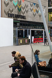 Ryan Giggs and Gary Neville's Cafe Football at Westfield Stratford has closed, with a sign outside disappointed guests can try a number of other outlets at the giant shopping complex. London, February 28 2019.