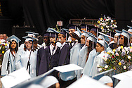 Seniors perform during the Fairborn High School commencement at the Nutter Center in Fairborn, Friday, May 25, 2012.