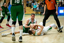Luka Lapornik of Krka fights for a ball with Domen Lorbek of Petrol Olimpija during basketball match between KK Krka and KK Petrol Olimpija in 22nd Round of ABA League 2018/19, on March 17, 2019, in Arena Leon Stukelj, Novo mesto, Slovenia. Photo by Vid Ponikvar / Sportida