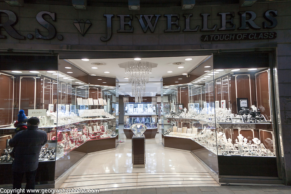 Jewellers shop in Gibraltar, British terroritory in southern Europe