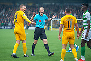 Referee Willie Collum gives a free kick to Celtic during the Ladbrokes Scottish Premiership match between Livingston FC and Celtic FC at The Tony Macaroni Arena, Livingston, Scotland on 6 October 2019.