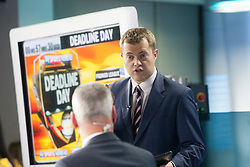 Jim White and Bryan Swanson at the Sky Sports TV studio for the transfer Deadline Day show..© Michael Schofield...