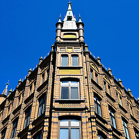 The Hotel Baltzar Tower in Malmö, Sweden<br /> The Hotel Baltzar, recently rebranded as the Hotel Mortensen, is housed in this historic building that opened in 1899. It is located along Balzarsgatan which is a popular shopping district in center city. Some of the rooms' décor include period furnishings, oriental rugs and antique chandeliers yet many of the amenities are new and modern.