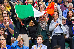 Supporter IRL - Team & Individual Competition Jumping Speed - Alltech FEI World Equestrian Games™ 2014 - Normandy, France.<br /> © Hippo Foto Team - Leanjo De Koster<br /> 02-09-14