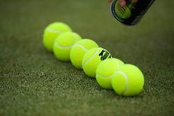 LONDON, ENGLAND - Monday, July 8, 2019: New balls during the Ladies' Singles fourth round match on Day Seven of The Championships Wimbledon 2019 at the All England Lawn Tennis and Croquet Club. (Pic by Kirsten Holst/Propaganda)