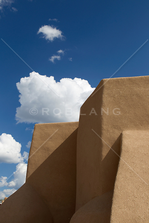 detail of The San Francisco de Asis Church in Tao, New Mexico